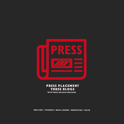 Press Placement (3 Blogs)