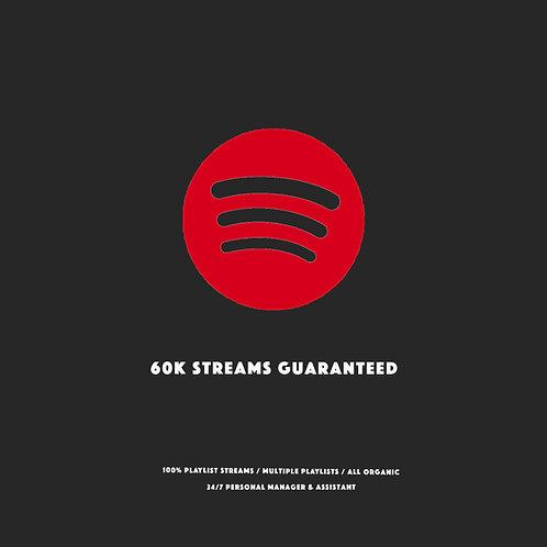 60K Streams Guaranteed