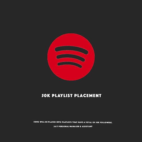 50k Playlists Placement