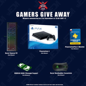 wEDM.Gaming launched - PS4 and Razers give away