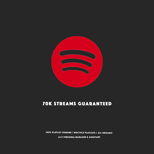 70K Streams Guaranteed