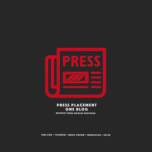 Press Placement (1 Blog)