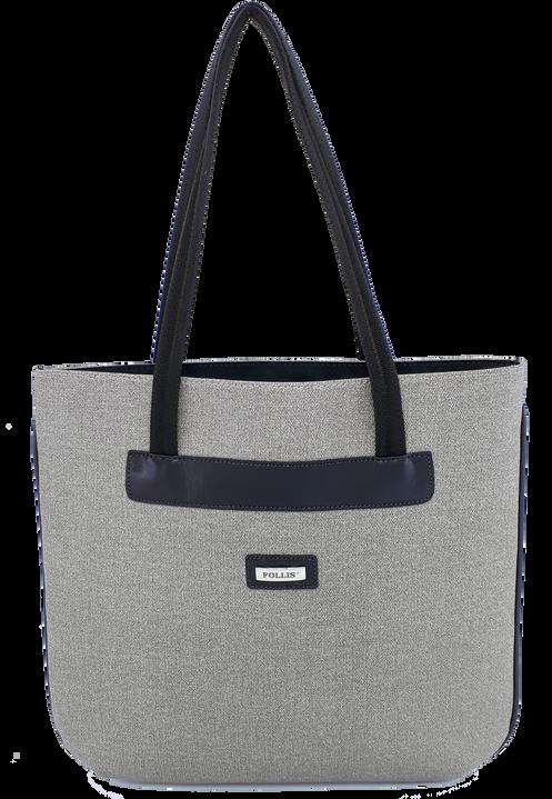 799530c47 Bolsa Feminina com alça de nylon preta e faixa de couro com forro de tecido