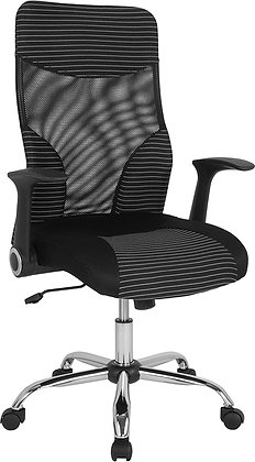 milford high back mesh chair with arms