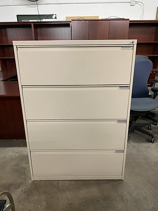 National Waveworks 4 drawer lateral file cabinets