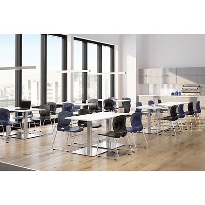 """72"""" x 30"""" rectangular conference tables laminate tops with metal bases"""