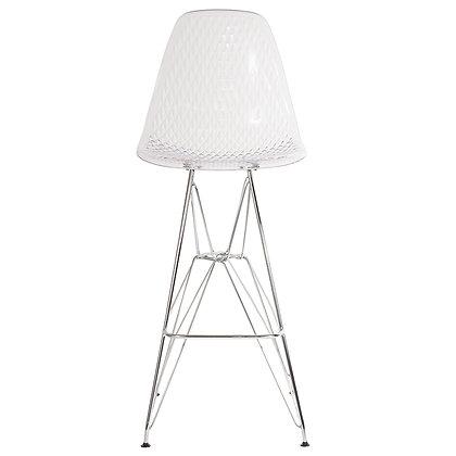 Clear Acrylic Barstool with Chrome Legs