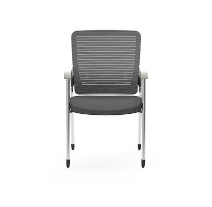 cherryman eon mesh back ergonomic guest chair gray