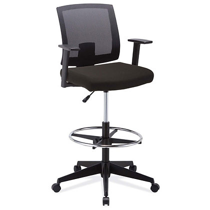 torrance collection mesh back task stools with foot ring black