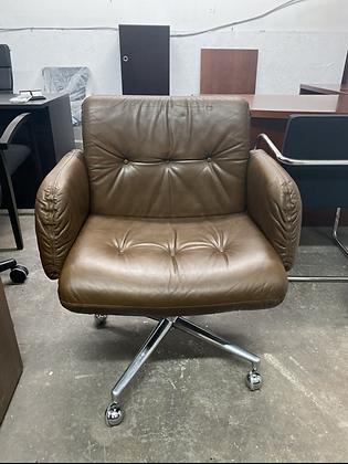 Harvey Probber executive leather chairs