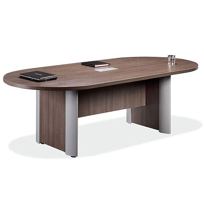 office source 8' racetrack shaped laminate conference table with elliptical base