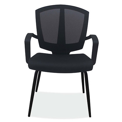 sprint collection side chairs with arms black mesh with black frame