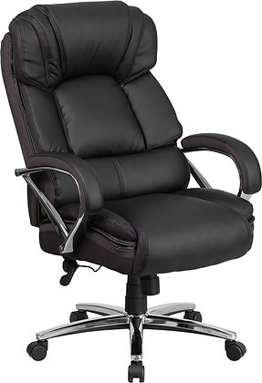 hercules big and tall series 500 lb weight rate executive black leather chairs