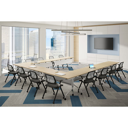 """os training collection set of 6ea. 72"""" x 24"""" training tables on casters"""