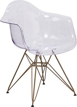 alonza series transparent mid century modern guest reception chairs