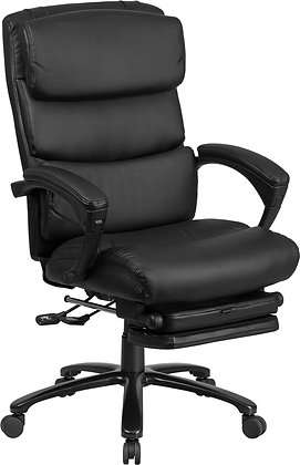 high back black leather executive reclining chair with head rest