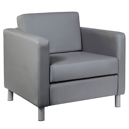 Define collection contemporary club chairs in black and gray.