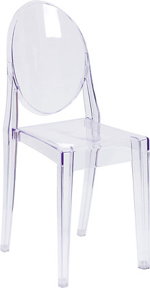 ghost side chairs transparent finish