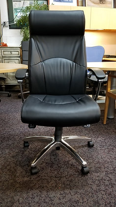 friant madison executive high back black leather chairs