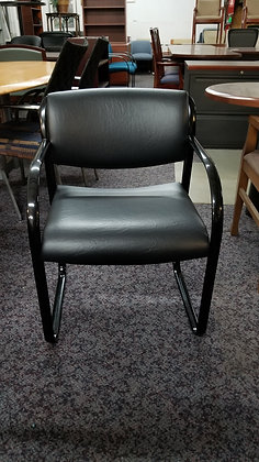 used steelcase snodgrass heavy duty guest chairs black