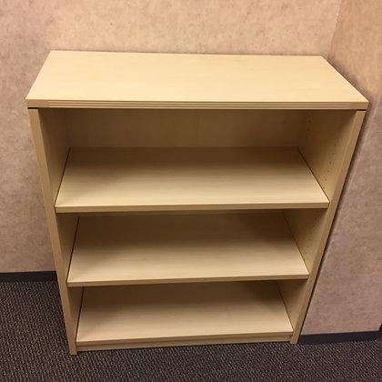 "cherryman 42"" height laminate bookshelves in maple finish"
