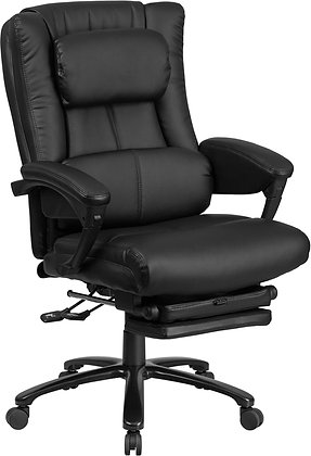 high back black leather executive reclining chair