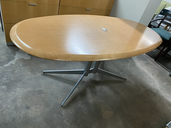 Oval shaped conference table