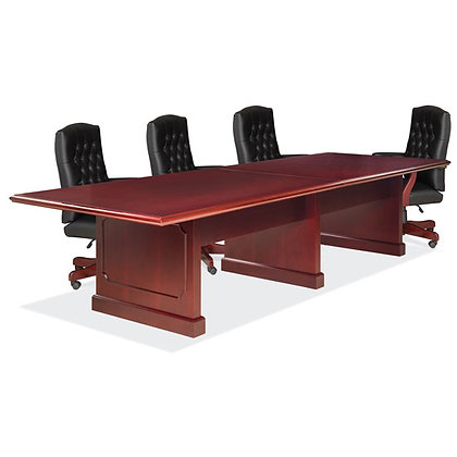 abbey collection traditional 10' conference table in mahogany finish