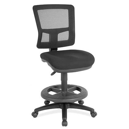 heitz collection armless mesh back task stools with foot ring black