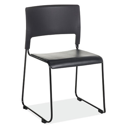 mario seating collection armless guest chairs black