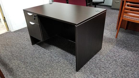 express office furniture laminate single pedestal desk in dark espresso finish