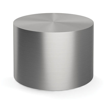 """new brushed aluminum 24"""" diameter drum table"""