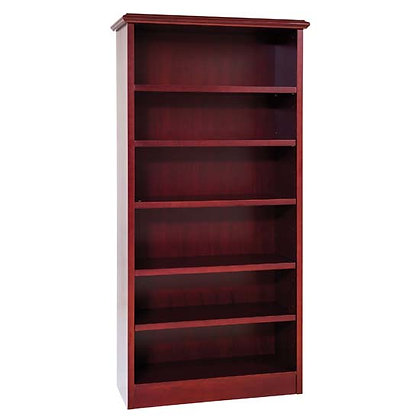 abbey collection traditional wooden bookcase in mahogany finish