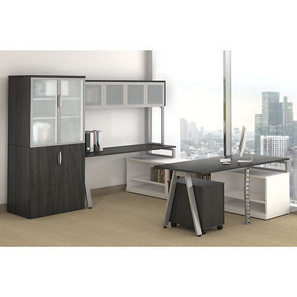 variant collection executive office set up with hutch and side cabinets