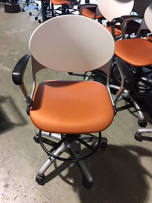 used national cinch drafting chairs with feet rest and arm rests adjustable height