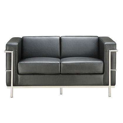 madison reception seating collection black or white loveseat