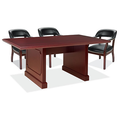 abbey collection 8' traditional conference table wood in mahogany finish