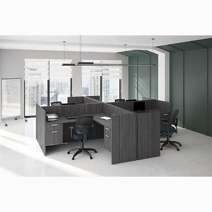 os laminate collection laminate 4 workstation set up