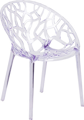 specter series transparent stacking chairs