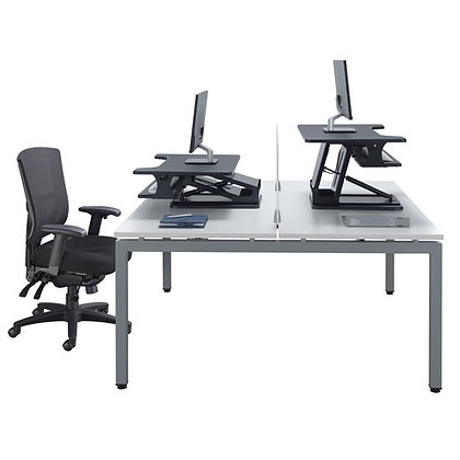 variant collection set of 2ea. straight work tables with pneumatic desk risers