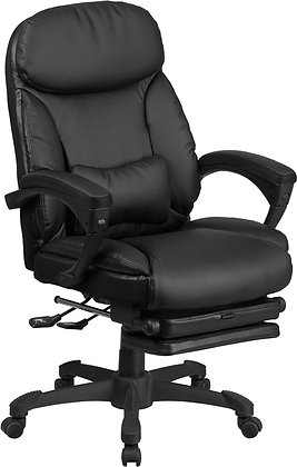 high back black leather executive reclining chairs