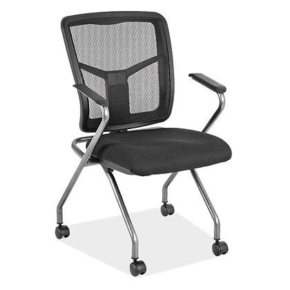 cool mesh collection mesh back nesting  training chairs on casters