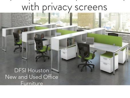 Open plan modern desking set ups