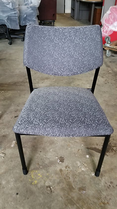 gunlocke molti armless guest stack chairs black frame gray fabric