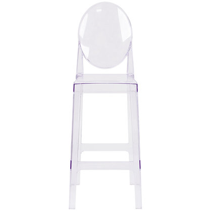 Ghost barstools with oval back crystal finish