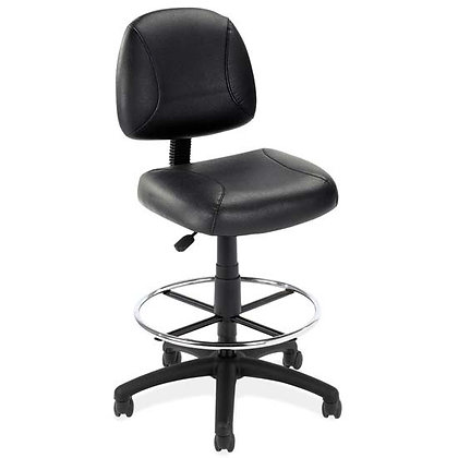 effort collection black leather stools with foot ring