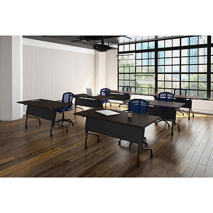 """os training collection set of 6ea. 60"""" x 24"""" training tables with casters"""