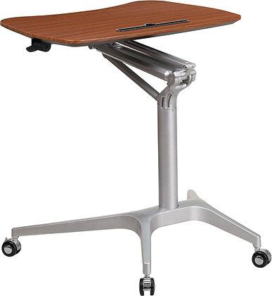 mobile laptop sit to stand ergonomic desk.