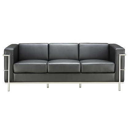 madison reception seating collection black or white sofa