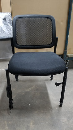 Armless mesh back guest chairs